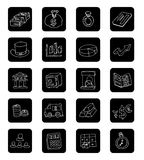 Doodle Bank icon, hand drawn illustration. Royalty Free Stock Image