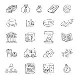 Doodle Bank icon, hand drawn illustration. Stock Photography