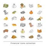 Doodle Bank icon set , hand drawn illustration. Doodle Bank icon set , hand drawn illustration Royalty Free Stock Image