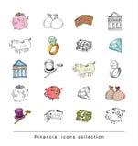 Doodle Bank icon set , hand drawn illustration. Doodle Bank icon set , hand drawn illustration Stock Photo