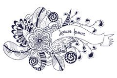 Doodle banner, hand drawn background Royalty Free Stock Photo