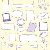 Doodle banners and frames with copy space royalty free illustration