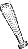 Doodle Baseball Bat Vector Stock Image