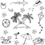 Doodle of beach vector art Stock Photography