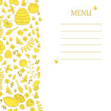 Doodle bee vertical banner. Stock Images