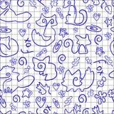 Doodle bezszwowy wzór z lisami ilustracji