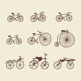 Doodle Bicycles Clipart Set Stock Image