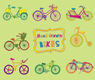 Doodle Bicycles Stock Photography