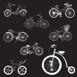 Doodle Bicycles Stock Images