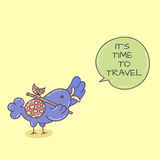 Doodle bird with speech bubble Royalty Free Stock Images
