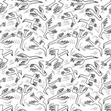 Doodle birds seamless pattern.Background with flying isolated ducks characters. Vector illustration. In funny sketchy style for surface design, wrapping paper vector illustration