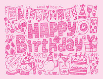 Doodle Birthday party background Royalty Free Stock Images