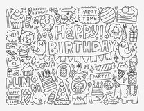 Doodle Birthday party background Stock Images