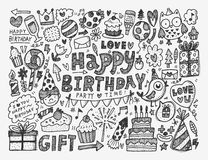 Doodle Birthday party background Royalty Free Stock Photo