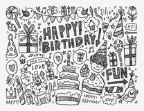 Doodle Birthday party background Royalty Free Stock Photography