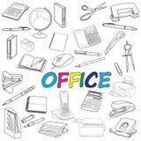 Doodle biura elementy Fotografia Stock