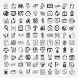 100 doodle biznesu ikona Fotografia Royalty Free