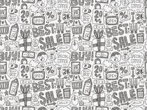 Doodle biznesu wzór Zdjęcie Stock
