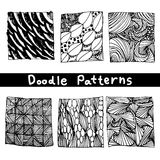 Doodle black line pattern background designs,the art of creative zentangle pattern Stock Image