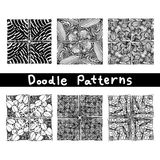 Doodle black line pattern background designs,the art of creative zentangle pattern Stock Images