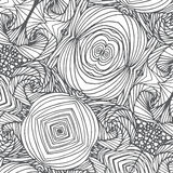 Doodle black line pattern background designs Royalty Free Stock Photography