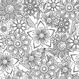 Doodle black and white abstract hand-drawn background Stock Image