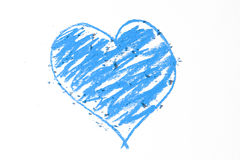 Doodle of blue heart Royalty Free Stock Images