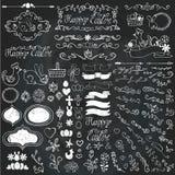Doodle border,budges,eggs,ribbons,floral easter vector illustration