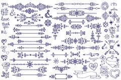 Doodle border,decor element,snowflakes.Winter love Royalty Free Stock Photography