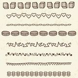 Doodle borders Stock Photography