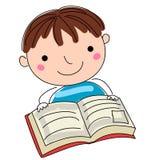 Doodle boy reading Stock Photos