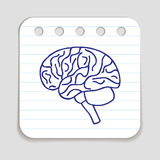 Doodle Brain Icon Royalty Free Stock Photography