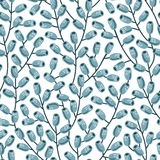 Doodle branches pattern. Stock Photos