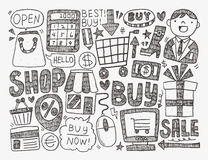 Doodle business background Royalty Free Stock Photo