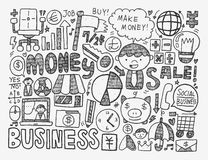 Doodle business background Stock Photography