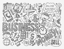 Doodle business background Royalty Free Stock Images