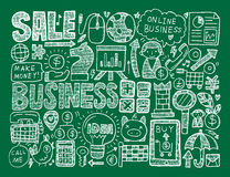 Doodle business background Stock Images
