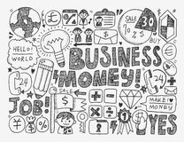 Doodle business background Royalty Free Stock Photography