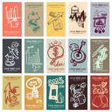 Doodle business cards set Royalty Free Stock Image