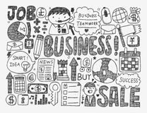 Doodle business Royalty Free Stock Photos