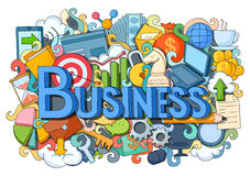 Doodle on Business concept. Vector illustration of doodle on Business concept Royalty Free Stock Image