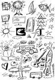 Doodle business design elements Stock Photo