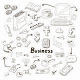 Doodle business diagrams set on blackboard vector. Doodle business diagrams set on blackboard  vector illustration Stock Images