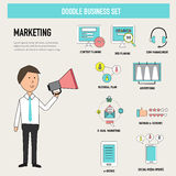 Doodle business digital marketing department concept vector.illu. Stration EPS 10 Royalty Free Stock Photo