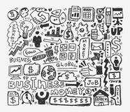 Doodle business element Stock Photos
