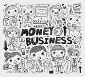 Doodle business element Royalty Free Stock Photos