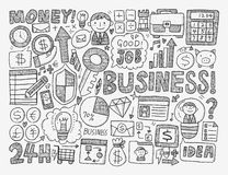 Doodle business element Stock Images