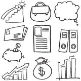 Doodle of business element set Royalty Free Stock Photo