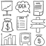 Doodle of business element various Royalty Free Stock Photography