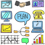 Doodle of business element vector art Stock Image
